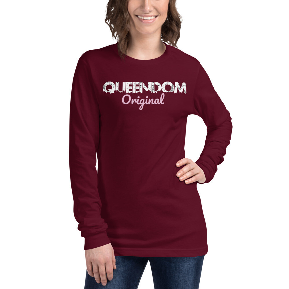QD Original Maroon Long Sleeve T
