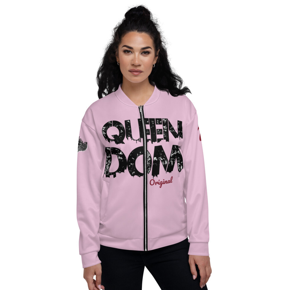 QD Original Womens Pink Bomber Jacket