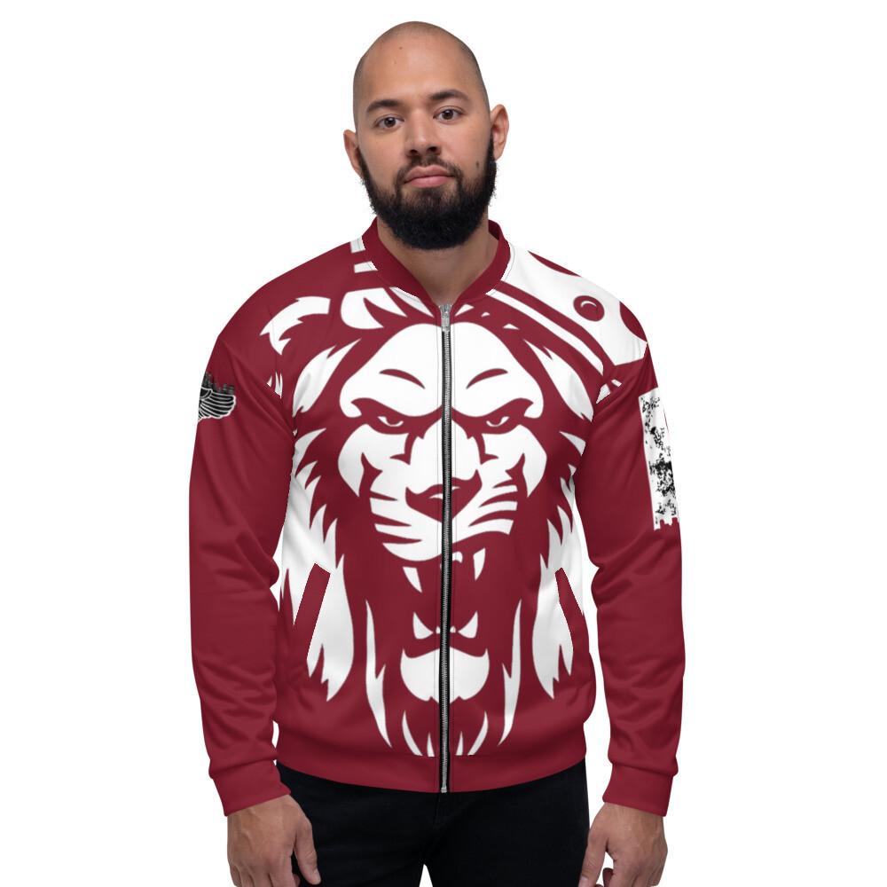 The KING Maroon Bomber Jacket