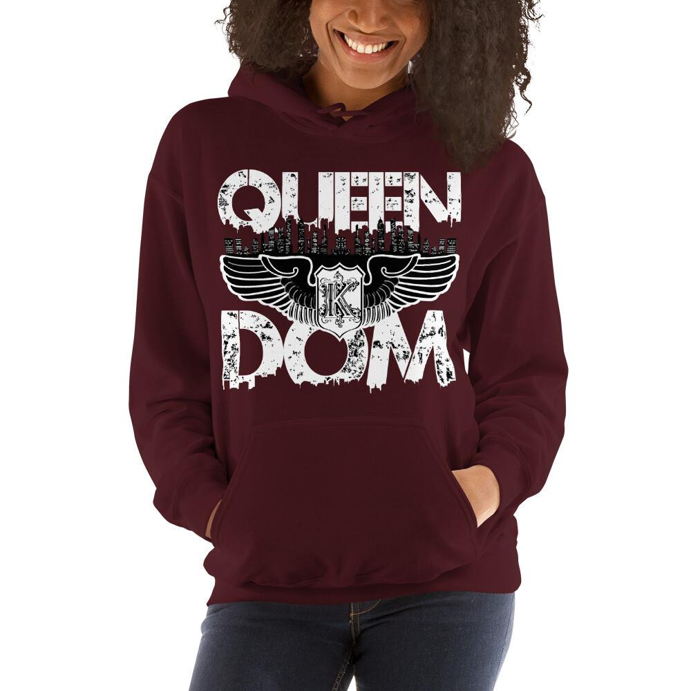 Queendom Original Maroon Hooded Sweatshirt