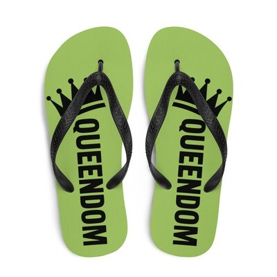 Queendom Lime Flip-Flops