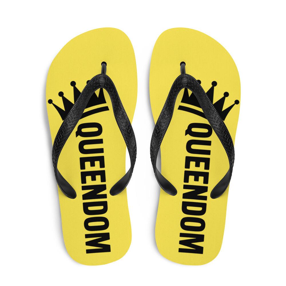 Queendom Yellow Flip-Flops