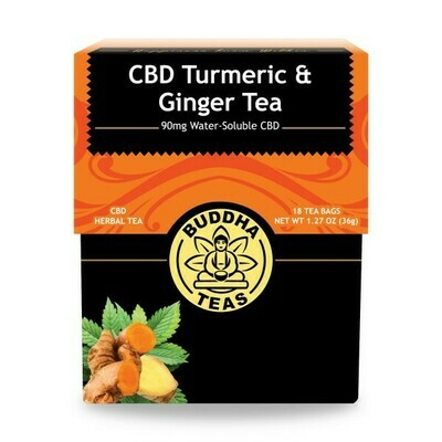 CBD Turmeric & Ginger Tea - Buddha Teas