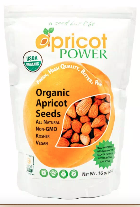 Organic Bitter Raw Apricot Seeds 16 oz.