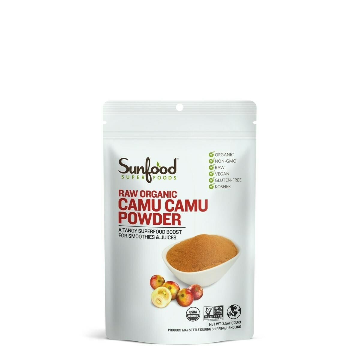 Sunfood-Raw Organic Camu Camu Powder- 3.5oz