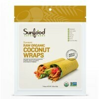Sunfood- Coconut Wraps - Turmeric - Raw, Vegan, Paleo, 7ct