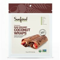 Sunfood- Coconut Wraps - Cinnamon - Raw, Vegan, Paleo, 7ct