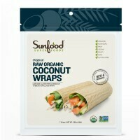 Sunfood- Coconut Wraps, Organic, Raw, Vegan, Paleo, 7ct