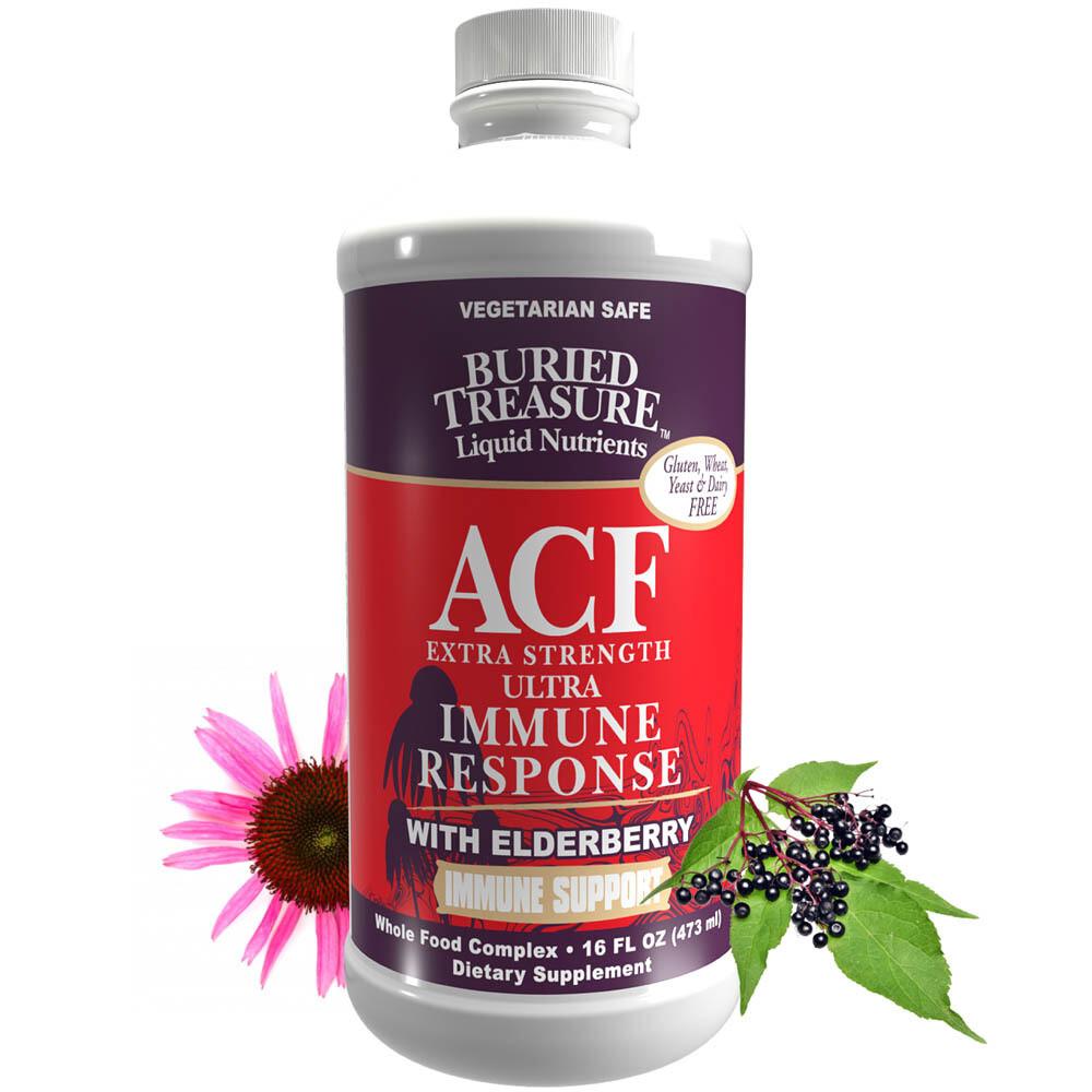 ACF Extra Strength Ultra Immune Response w/ Elderberry 16 fl oz- Buried Treasure
