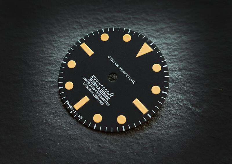Sub 5512 dial yellow lume for ETA