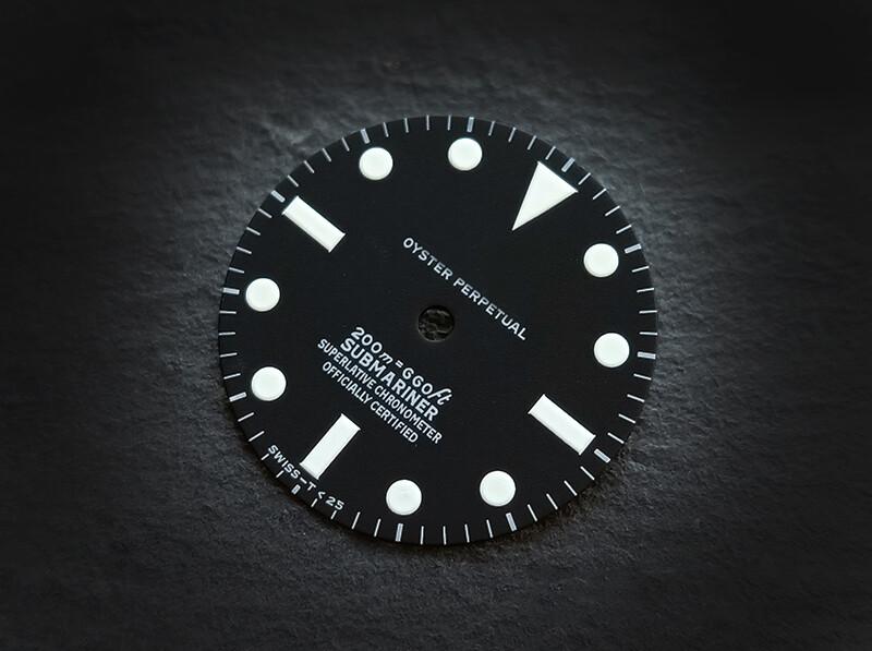 Sub 5512 dial white lume for ETA