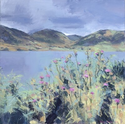 Pink Thistles By Crummock Water *NEW*