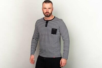 Manor Stripes Dvobojna Majica (dug rukav)