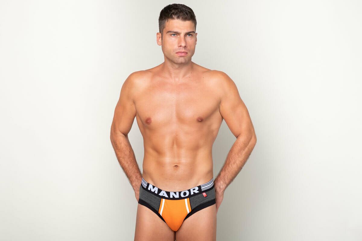 Manor Orange Movement Sivi slip