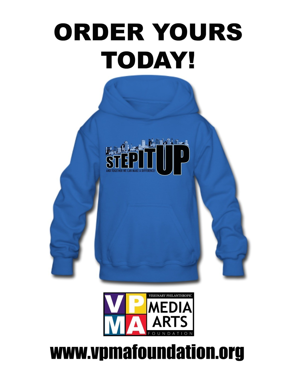 Step It Up! Blue Hoodie
