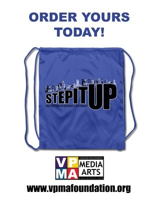 Step It Up! Official Blue Drawstring Backpack