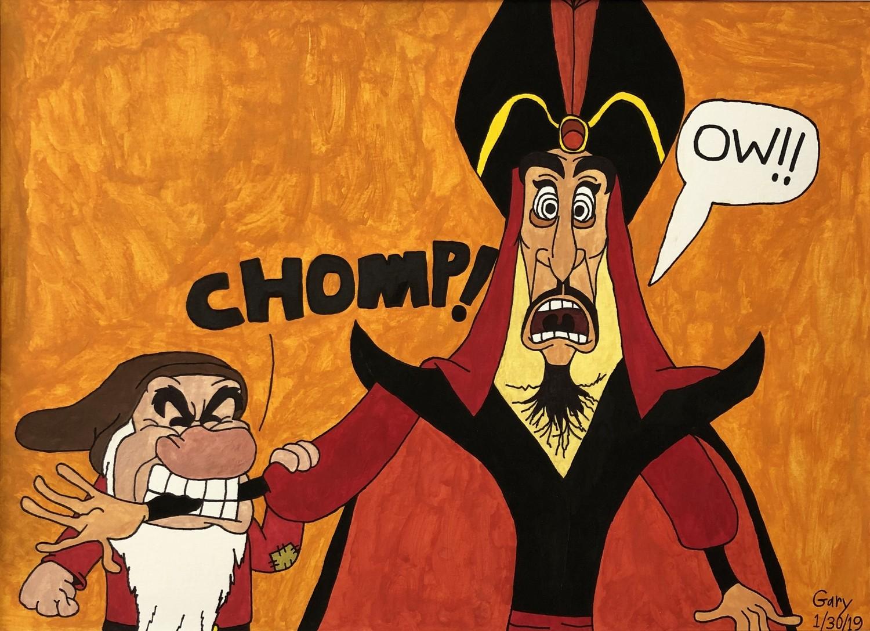 Grumpy Bites Jafar!