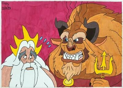 Beast Angry at King Triton