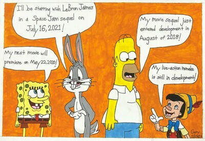 Cartoon Characters Talk about Their Upcoming Movies