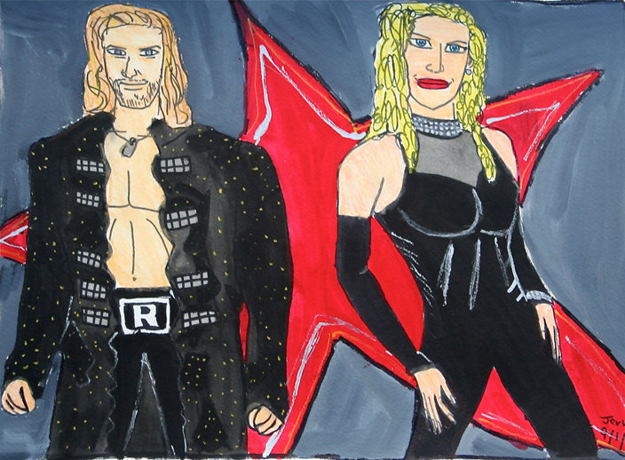 WWE in Black and Red