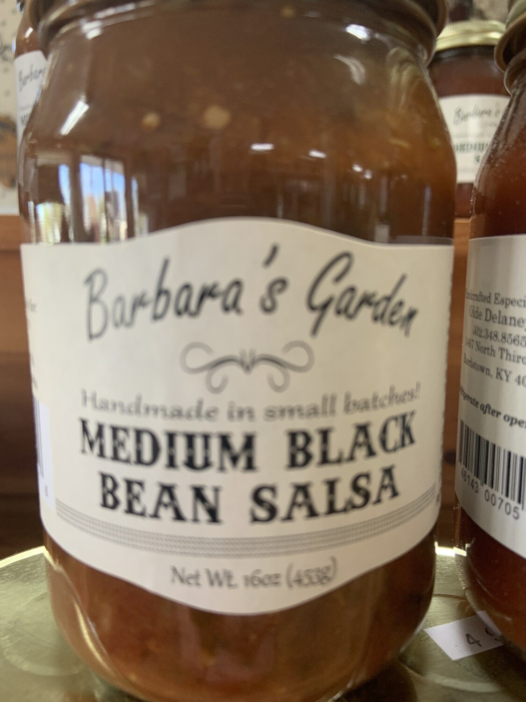 Barbara's Garden Medium Black Bean Salsa