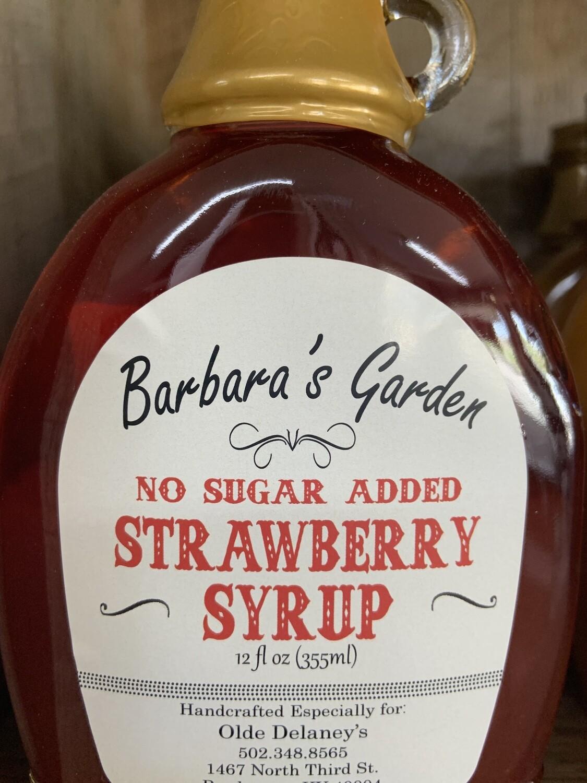 Barbara's Garden No Sugar Added Strawberry Syrup 12 oz