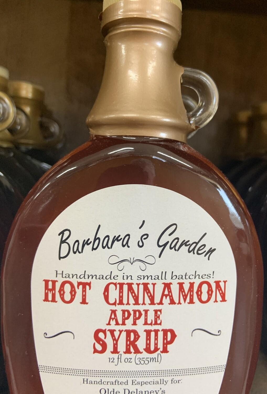 Barbara's Garden Hot Cinnamon Apple Flavored Syrup 12 oz