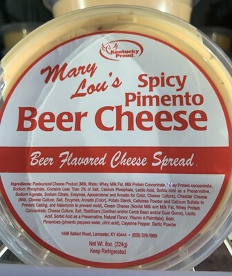 Mary Lou's Spicy Pimento Beer Cheese 8oz