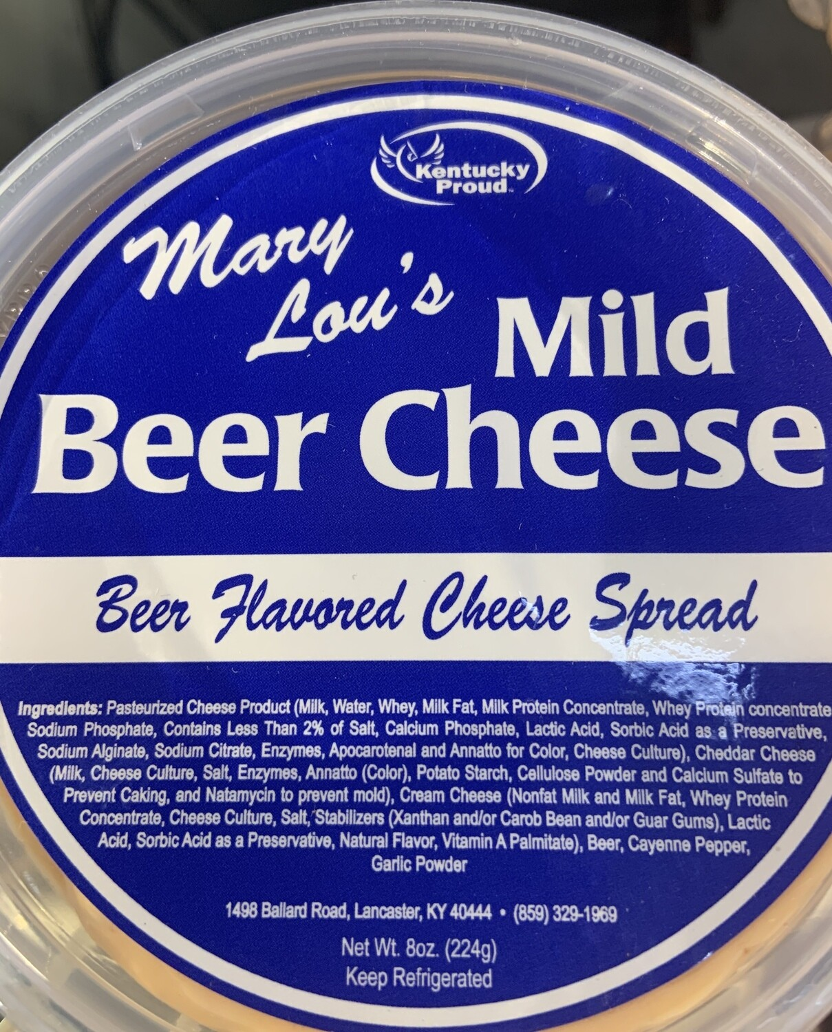 Mary Lou's Mild Beer Cheese 8oz