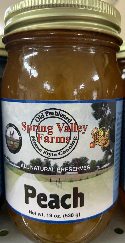 Spring Valley Peach Preserves 19oz