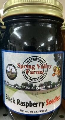 Spring Valley Farms Black Raspberry Seedless Preserves 19oz