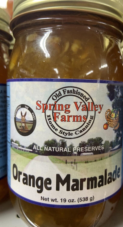 Spring Valley Farms Orange Marmalade Preserves  19oz