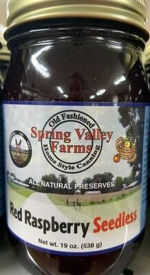 Spring Valley Farms Red Raspberry Seedless Preserves 19oz
