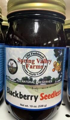 Spring Valley Farms Blackberry Seedless Preserves
