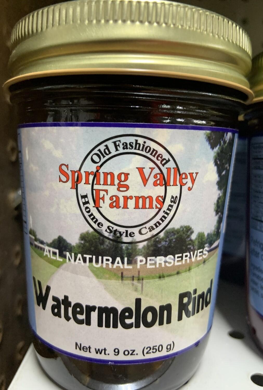 Spring Valley Farms Watermelon Rind Preserves 9oz