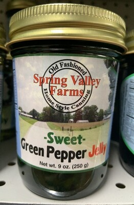 Spring Valley Farms Sweet Green Pepper Jelly 9oz