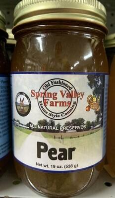 Spring Valley Farms Pear Preserves 19oz