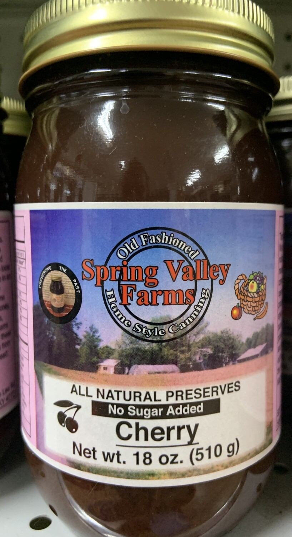 Spring Valley Farms No Sugar Added Cherry Preserves 19oz