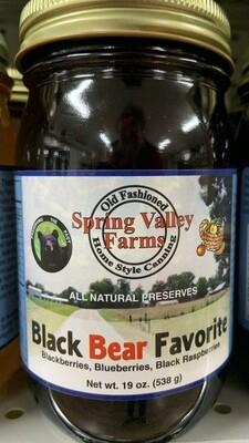 Spring Valley Farms Black Bear Favorite Preserves 19oz