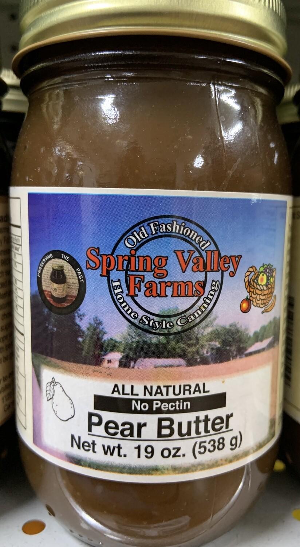 Spring Valley Farms Pear Butter 19oz