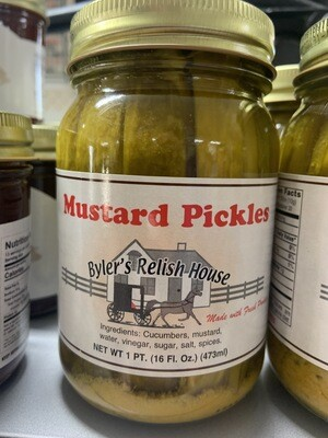 Byler Relish House Mustard Pickles16oz