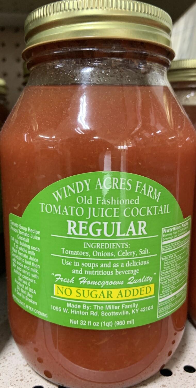 Windy Acres Farm Regular Tomato Juice 32 oz