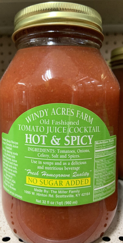 Windy Acres Farm Hot & Spicy Tomato Juice 32 oz