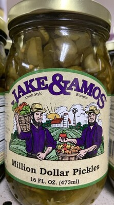 Jake & Amos Million Dollar Pickles 16 oz