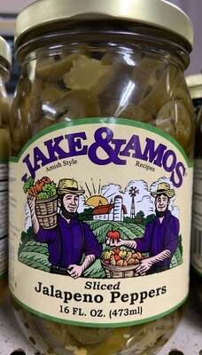 Jake & Amos Sliced Jalapeno Peppers 16 oz