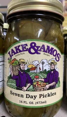 Jake & Amos Seven Day Pickles 16 oz