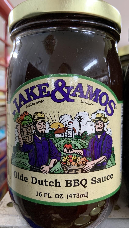 Jake & Amos Old Dutch BBQ Sauce 16oz