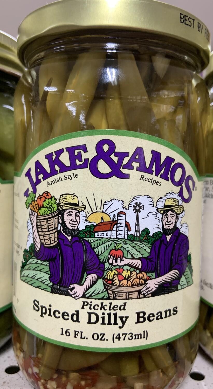 Jake & Amos Spiced Dilly Beans 16 oz