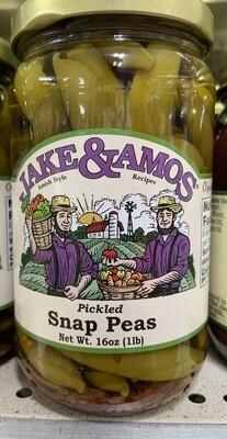 Jake & Amos Pickled Snap Peas 16 oz