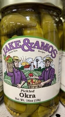 Jake & Amos Pickled Okra 16 oz